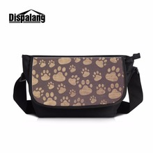 Dispalang High Fashion Across Body Bags Name Brand Messenger Pouch Over Shoulder Bag with Brown Foot Mark Casual Side Bags Men(China)