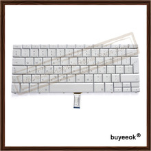 "Original Silver Laptop Greece Keyboard Replacement for Apple MacBook Pro 15""  A1226 Greek Layout Keyboard with Backlight"