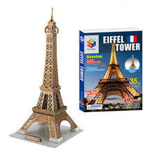 DIY 3D Paper Craft Puzzle Toy, Handmade Eiffel Tower Jigsaw Puzzle, Construction Simulation Model, Toys For Children, Brinquedos(China)
