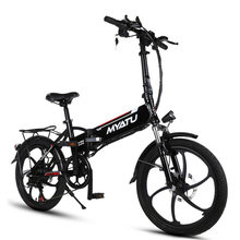 "20"" 250W 48V Lithium Battery E Bike, Folding Electric Bicycle,  Elektrikli Bisiklet With USB Charging for Phone, 6 Speed"