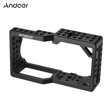 Andoer Video Camera Cage Stabilizer Protector for BMPCC Camera to Mount Microphone Monitor Tripod LED Light Photography Tools(China)