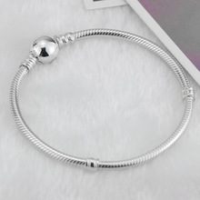 Buy 2018 New Original 925 Silver Small Hole Beads Charm Bracelets Fit European Pandora roun Charms Bracelet DIY Fashion Jewelry for $2.48 in AliExpress store