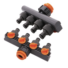 4 Way Garden Hose Pipe Splitter Drip Irrigation Water Connector Agricultural Tap(China)