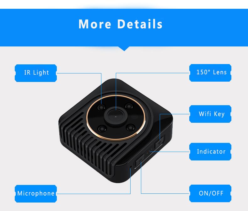 H5 mini camera wifi camera spied camera