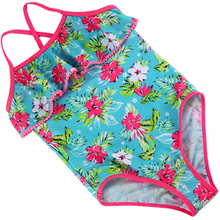 2017 Floral Print One Piece Girls Swimwear Children Swimsuit for Girls 3-14 Years Teenage Child Swim Wear Beachwear Bathing Suit