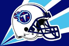 Tennessee Titans Helmet Lighting Flag 3ft x 5ft Polyester Banner flag white sleeve with 2 Metal Grommets(China)