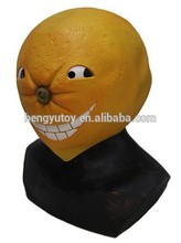 Deluxe Fruit Cosutme Accessory Latex Orange Mask for Adult Christmas New Year Carnival Dress Up
