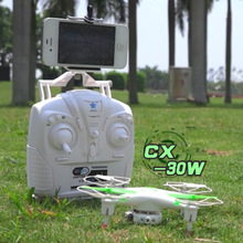 Drone with Camera FPV Cheerson CX-30 CX-30W WIFI Controlled RC Quadcopter UFO RTF with Iphone Real Time Transmission FPV FSWB(China)