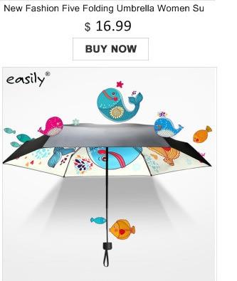 Ultra Small Five Folding Umbrella Rain Men Women Quality Simple Sunny And Rainy Umbrellas Windproof 2 Color Portable Parasol