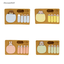 Cute Kawaii Animal Sticky Notes Post It Stickers Scrapbooking Diary Stickers Planner Memo Pads Office Stationery School Supplies(China)