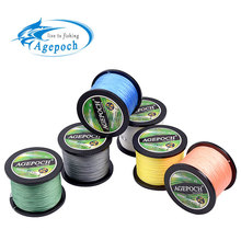 Agepoch 100m/500m 4/8/9 strands Braided Fishing Line Multifilament Super Power PE Line Rope The Peche Spearfishing Cord Wire(China)