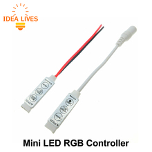 LED RGB Controler DC12V Mini 3 Key LED RGB Controller for RGB LED Strip.(China)