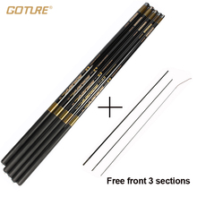 Goture Carp Fishing Rod with Free Spare 3 Tips 3.6M-7.2M Carbon Fiber Fishing Pole Ultra-light Hand Telescopic Fishing Rod