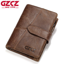 GZCZ Genuine Leather Retro Men Wallets High Quality Famous Brand Hasp Design Male Walet Card Holder for Men's Purse Carteira(China)