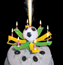 Free shipping birthday candle music football cup candle Fireworks cake candle automatic blossom party Candle