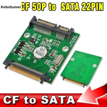 "2016 New Arrival 1.8"" CF 50P to SATA 22PIN Converter Adapter Card Compact I/II Flash Merory Card to 2.5 22Pin Hard Disk Hot(China)"