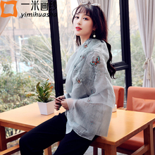 new fashion butterfly embroidery scarf for women summer style ladies long scarves echarpes foulards femme 190*85cm great gifts