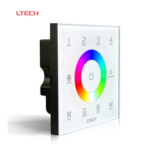 ltech D8 DC12-24V 4 channels 16A full color touch panel RGBW controller for rgb led rigid bar strip 5050 light bulb