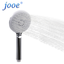 jooe 3 Modes Round hand hold shower head Water Saving Massage ABS Plastic Chrome Self Cleaning Nozzle Bath Bathroom Accessories(China)