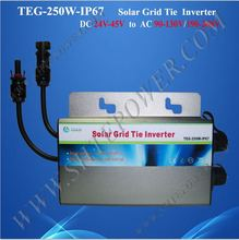 Great design 250w 24v on grid tie inverter for 120v country(China)