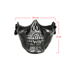 Outdoor Cosplay Mask Wargame Tactical Mask Lower Half Face Protective Mask Guard Airsoft Paintball CS Army Mask Halloween Party