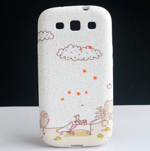 Cartoon Cloud Duck Design Soft TPU GEL Back Protective Skin Cover Case For Samsung Galaxy S3 III i9300 Coque Funda Capa New