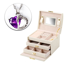 Jewelry Organizer Box Necklace Earring Ring Holder Storage Case Birthday Gift box Travel Jewelry Display Packaging Holder Stand