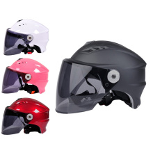 Summer Unisex Motorcycle Half Helmet Adjustable Anti-UV One Size Outdoor Sports Helmets With Lens For Men Women Motor Helmet