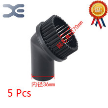 5Pcs High Quality Industrial Vacuum Cleaner Accessories Suction Head PP Round Brush Inside Diameter 36 Brush Head