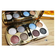 New High pigment Eyeshadow Naked Palette & Makeup Cosmetic Brush Bright Colorful Makeup Flash Glitter paleta sombras para ojos