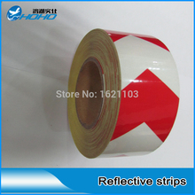 Cheap Factory Double color reflective tape for safety, Warning Tape for road traffic sign, truck and vehicle, highway(China)
