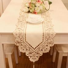 Brown floral Jacquard Table Runners Quality Tablecloth Wedding table runners wedding decoration home deco