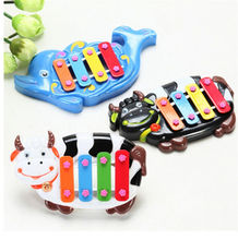 New Baby Musical Educational Animal Developmental Music Bell Toy Farm Piano Toy Kids 4 Tone Gift Toys for Children Random send