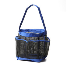 Quick Dry Storage Bags Hanging Mesh Bathroom Bag Shower Tote Cosmetic Organizer with 8 Pockets Portable Bath Bags