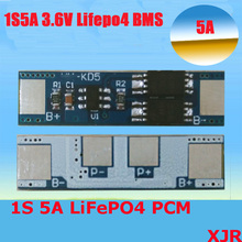 1S 5A 3.6V LiFePO4 BMS/PCM/PCB battery protection circuit board for 1 Packs 18650 Battery Cell(China)