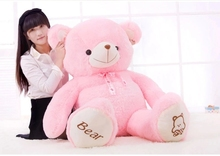 huge 120cm pink teddy bear plush toy soft throw pillow Christmas gift h2859(China)