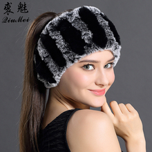 QiuMei Rex Rabbit Fur Scarf Women Winter Scarves Hair Band Fashion Trendy Warm Scarf 2017 New Elegant Casual Scarves(China)