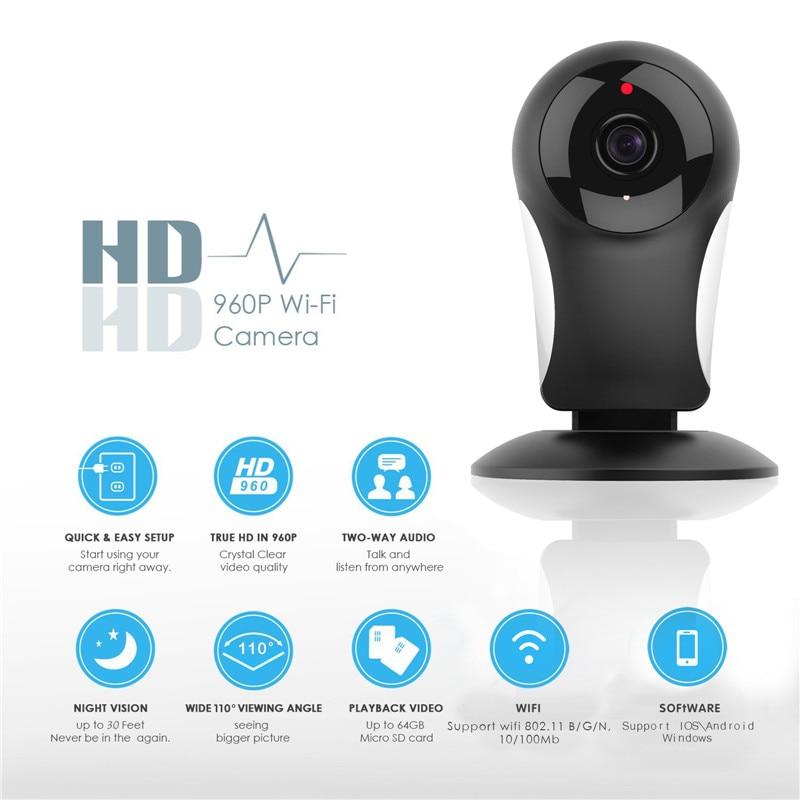 NEW 960P Home Security IP Camera Wireless Mini IP Camera Surveillance Camera Wifi Night Vision CCTV Camera Baby Monitor<br>