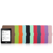 "For Amazon Kindle Voyage 2014 Case Cover 6"" Ereader Ebook Magnet Wake Up and Sleep 8 Colors + Screen Protector + Pen"