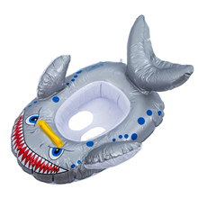 ELOS-Funny Kids Baby Inflatable Swimming Pool Ring Cartoon Baby Swim Seat with Wheel Horn Float Boat Swimming Pool & Accessories