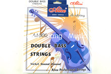 Alice A1000 Upright Bass Strings Double Bass Strings 1st-4th Nickel Round Wound Strings(China)