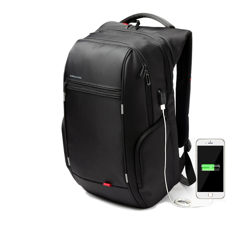 high quality free ship 1517  Laptop Backpack External USB Charge Computer Backpacks Anti-theft Waterproof Bags for Men Women<br>