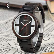 Relogio BOBO BIRD Wood Watch Men Quartz Wristwatches New Design Timepieces For Men and Women Wooden Clock Gift C-Q19(China)