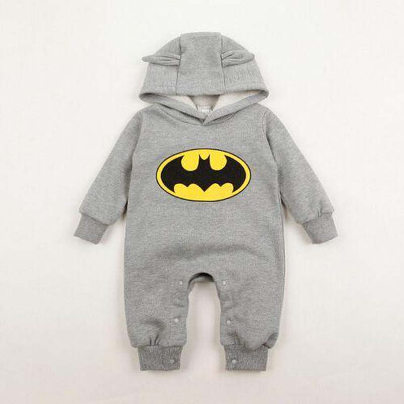 Hot Sale Designer Autumn Winter New Cotton Girls Boys Rompers Baby Batman Cute Rompers Infant Jumpsuits YAZ002<br><br>Aliexpress