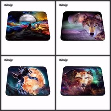 Magic Wolf Custom Support Beautiful Rubber Mouse Pad Size 18*22cm and 25*29cm And 25*20cm Gaming Mouse Mats As A Gift(China)