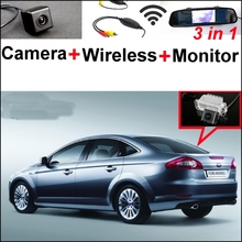 3 in1 Special Rear View Camera + Wireless Receiver + Mirror Monitor Back Up Parking System For Ford For Mondeo 2008~2014