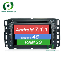 For Chevrolet Express Traverse GMC Yukon Savana Sierra Tahoe Acadia 2DIN Android 7.1.1 car Radio dvd GPS navigation TDA 7851 4G