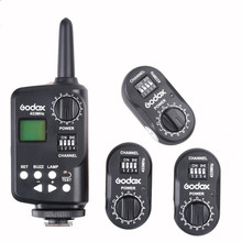 Godox FT-16 Wireless Power Controller Trigger + 3* Receiver for Godox Witstro AD180 AD360 Speedlite Canon Nikon Pentax Cameras
