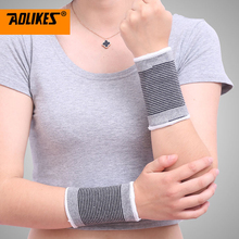 AOLIKES 1Pair Wrist Support Protect Wristband Unisex Bracers Basketball Football Tennis Badminton Sports Protection Wrist
