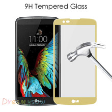 Buy Dreamysow high Full Cover Screen Protector LG K10 2017 K8 G6 K 10 8 Toughened Tempered Film K8 2016 Case Glass for $1.04 in AliExpress store